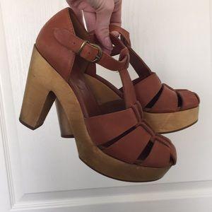 Madewell wooden heel sandals